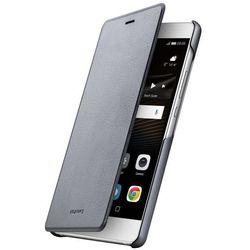 Huawei P9 Lite Flip Cover (szary) - produkt w magazynie - szybka wysyłka!