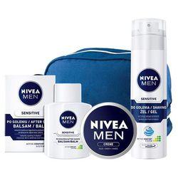 Zestaw NIVEA MEN SENSITIVE DO GOLENIA żel łagodzący + balsam + krem +