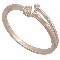 Pierścionek z białego złota z brylantami 24376