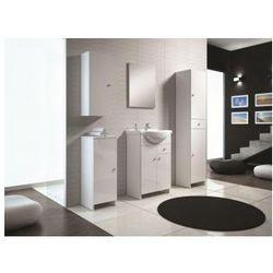 DEFTRANS KACPER Zestaw łazienkowy szafka + umywalka 55, biały połysk