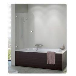 Parawan nawannowy SanSwiss PURB jednoczęściowy lewy 80x140 cm, chrom szkło przeźroczyste PURBG08001007