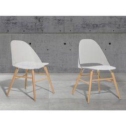 Krzeslo przezroczysto-biale - krzeslo do jadalni, kuchni - krzeslo kubelkowe - MILFORD