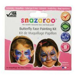 Farby do malowania twarzy Snazaroo - zestaw tematyczny MOTYLE