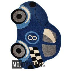 Dywan Fit It Auto niebieskie niebieski 133x190 prostokąt