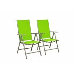 Rovens.pl Krzesła składane zestaw 2 sztuk - zielone krzesła do ogrodu - rozkładane
