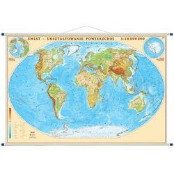 Świat mapa ścienna fizyczna 1:18 000 000 Eko-Graf
