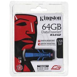 Kingston Flashdrive DataTraveler R3.0 G2 64GB USB 3.0 Czarno-niebieski- wysyłka dziś do godz.18:30. wysyłamy jak na wczoraj!