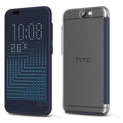 Etui Dot View Ice-Premium HTC HC M272 Granatowe do HTC ONE A9