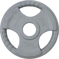 Obciążenie gumowane OLIMPIJSKIE 50mm 5 kg SPORTOP (szare)