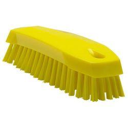 Szczotka ręczna do mycia, szorowania, średnia, żółta, 165 mm, VIKAN 35876