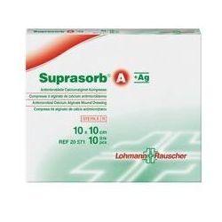 Suprasorb® A+Ag 10cm x 20cm 1 sztuka przeciwbakteryjny opatrunek z alginianu wapnia i srebrem
