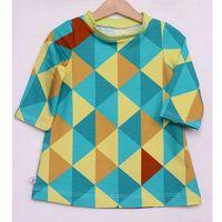 Sukienka kolorowe trójkąty