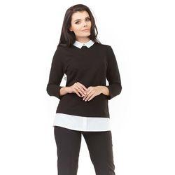 cd3c36d95ce641 bluzki damskie czarna elegancka bluzka z wiazana kokarda pod szyja ...
