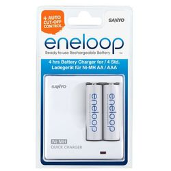 Kompaktowa ładowarka Sanyo Eneloop MDR02-E-2-3UTGB + 2 szt Sanyo Eneloop AA 2000mAh