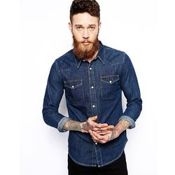 Lee Western Denim Shirt Slim Fit Dark Rinse Wash - Blue
