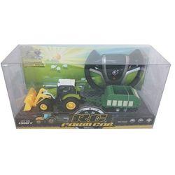 Traktor z przyczepą zdalnie sterowany