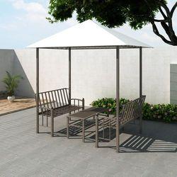 vidaXL Pawilon ogrodowy, altana, stół i ławki (2,5 x 1,5 2,4 m) Darmowa wysyłka i zwroty
