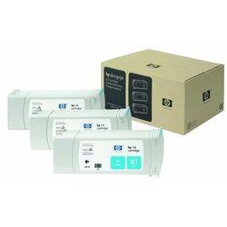 HP oryginalny ink C5067A, No.81, cyan, 3x680ml, 3szt, HP DesignJet 5000, PS, UV, 5500, PS