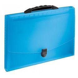 Teczka z 12 przegródkami i rączką ESSELTE Vivida, niebieska 624022