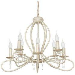 Żyrandol LAMPA wisząca FRESCO 4563 Nowodvorski świecznikowy ZWIS metalowy z kryształkami IP20 maria teresa ecru