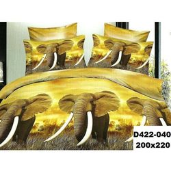 Komplet Pościeli 200x220 Pościel 3D Słonie 4el 040 - 040