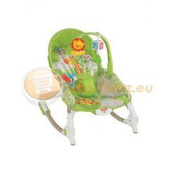 Fotelik Bujaczek bujak Leżaczek Zielony Fotelik do 18kg BCD28 Fisher Price Mattel