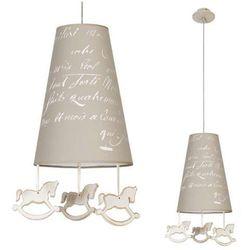 LAMPA wisząca PONY 6378 Nowodvorski dekoracyjna OPRAWA dziecięca wzorki koniki beżowa