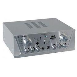 Skytronic Wzmacniacz karaoke FM / USB / SD / Rem (srebrny)