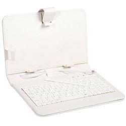 Etui z klawiaturą TRACER do tabletu 7 cali White Micro