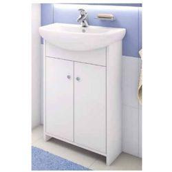 DEFTRANS DIANA Zestaw łazienkowy szafka 2D0S D50 bez cokołu + umywalka, wenge luiziana 106-D-05008+1120