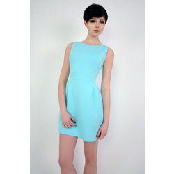 Prosta elegancka sukienka mini Solange turkusowa