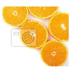Fototapeta Mandarin plastry pomarańczy, w tle.