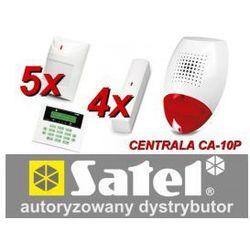 Alarm Satel CA-10 LCD, 5xAqua Plus, 4xVD-1, syg. zew. SP-500