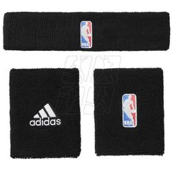 Komplet frotki na nadgarstek + opaska na głowę adidas NBA G68791