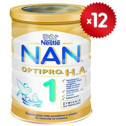 Zestaw 12x NESTLE NAN OPTIPRO HA 1 400g Mleko początkowe z B.Lactis dl