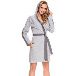Dn-nightwear SWB.9026 szlafrok z kapturem