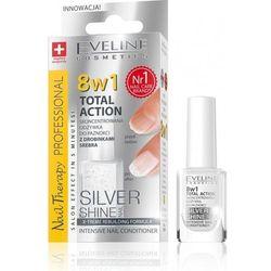 Eveline Nail Therapy Lakier odżywka Total Therapy 8w1 Silver Shine 12ml