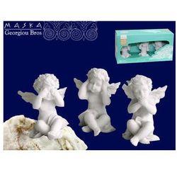 Zestaw 3 aniołków - alabaster grecki