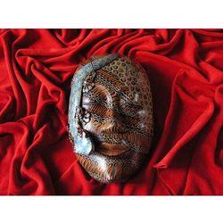 Dekoracyjny Prezent RZEŹBA Egzotyczna Maska WODY