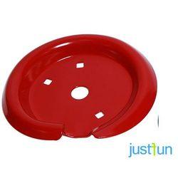 Metalowy talerz do sprężyny - czerwony
