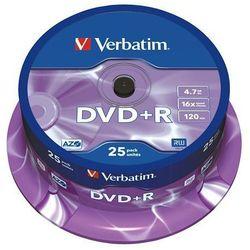 VERBATIM PŁYTY DVD+R VERBATIM 4,7GB 16X CAKE 25 SZT.43500