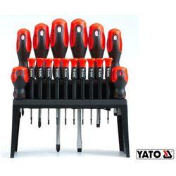 YATO Zestaw 18 wkrętaków w stojaku (YT-2786)