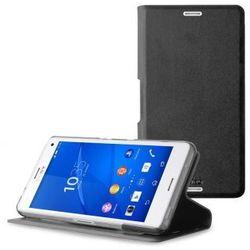 PURO Booklet Wallet Case - Etui Sony Xperia Z3 Compact z kieszenią na kartę (czarny) Odbiór osobisty w ponad 40 miastach lub kurier 24h
