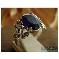 DOMINGO - srebrny pierścionek z szafirem