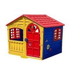 Domek dla dzieci Marian Plast do zabaw Czerwony/Niebieski/Zielony