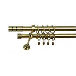 Karnisz Podwójny MARTA Ø19/19mm Cylinder : dlugosc karniszy - 280 cm, Rodzaj - Metalowy, Kolor Karnisza - Tytan, Mocowanie - Ścienne