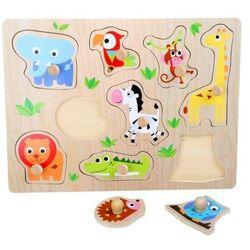 Układanka edukacyjna dla Dzieci Zwierzęta z ZOO - drewniana