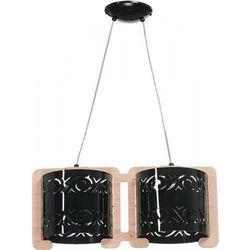 MANILA 2 zwis naturalny/czarny - żyrandol/lampa wisząca