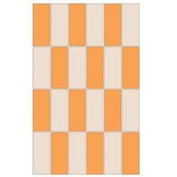 mozaika Aroma prostokąty bianco/orange 25 x 40 WD208-011