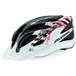 ALPINA FB Junior 2.0 - Kask rowerowy młodzieżowy, 50-55cm - Black-White-Red (50-55cm)